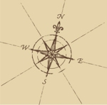 Old Map Compass