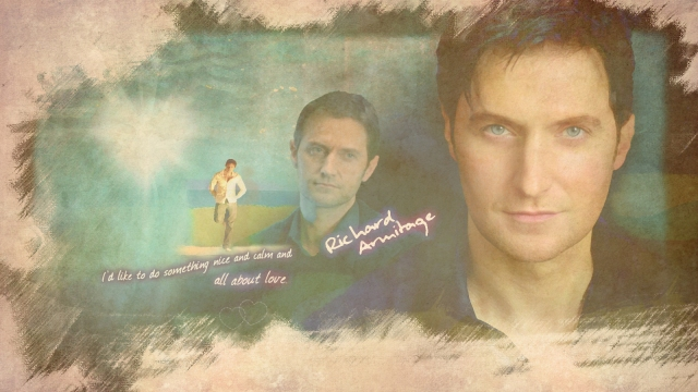 Richard Armitage - All About Love Watercolor 1600 x 900