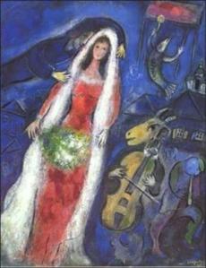 La Mariée by Marc Chagall
