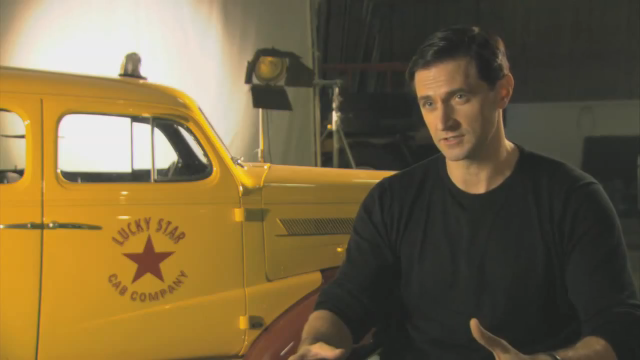Richard Armitage on the set of Captain America