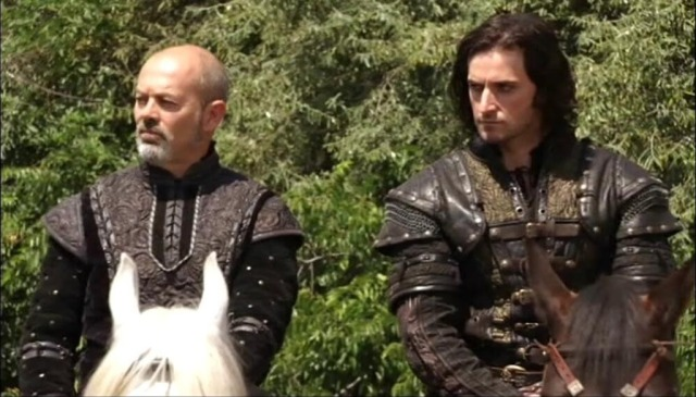Keith Allen and Richard Armitage in Robin Hood