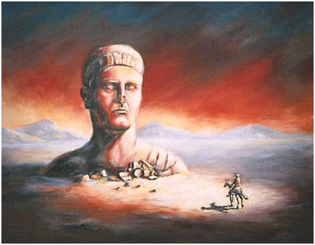 Ozymandias painting by Charles Griffith